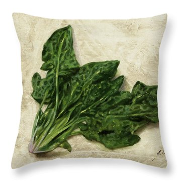Spinaci Throw Pillow by Guido Borelli