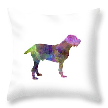Spinone In Watercolor Throw Pillow by Pablo Romero