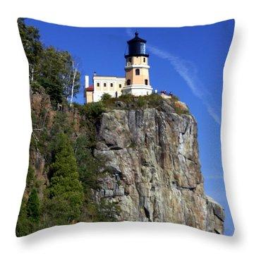 Split Rock 2 Throw Pillow by Marty Koch