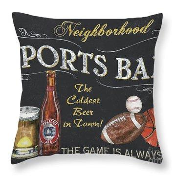 Sports Bar Throw Pillow by Debbie DeWitt