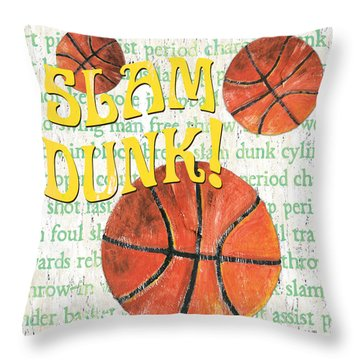 Sports Fan Basketball Throw Pillow by Debbie DeWitt