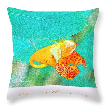 Throw Pillow featuring the photograph Spotted Jewelweed Wildflower by A Gurmankin