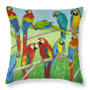 Spreading The News Throw Pillow by Pat Scott