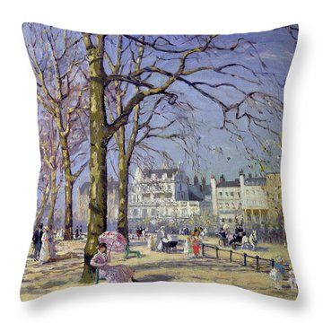 Spring In Hyde Park Throw Pillow by Alice Taite Fanner