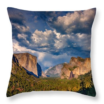 Spring Storm Over Yosemite Throw Pillow by Rick Berk