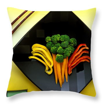 Square Plate Throw Pillow by Garry Gay