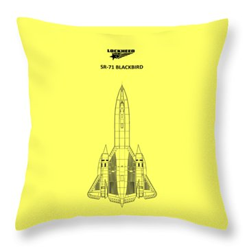 Sr-71 Blackbird Throw Pillow by Mark Rogan