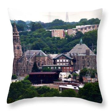 St John The Baptist Church Manayunk Philadelphia Throw Pillow by Bill Cannon
