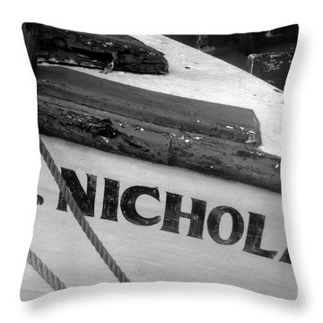 St. Nicholas Throw Pillow by David Lee Thompson