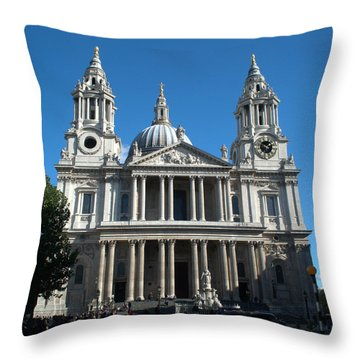 St Pauls Cathedral Throw Pillow by Chris Day