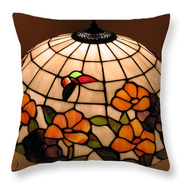 Stained-glass Lampshade Throw Pillow by Suhas Tavkar