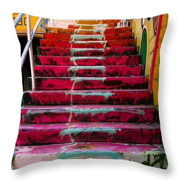 Stairs Throw Pillow by Angela Wright