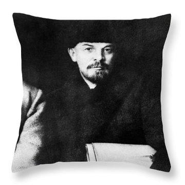 Stalin, Lenin & Trotsky Throw Pillow by Granger