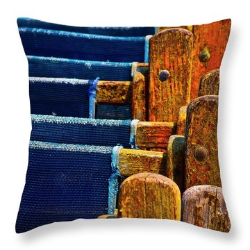 Standing Room Only Throw Pillow by Skip Hunt