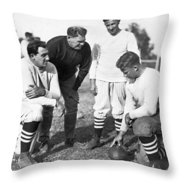 Stanford Coach Pop Warner Throw Pillow by Underwood Archives