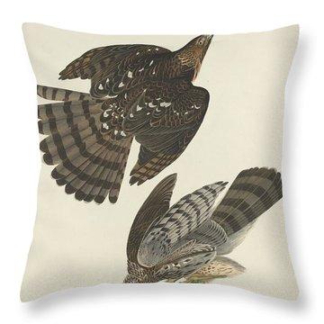 Stanley Hawk Throw Pillow by John James Audubon