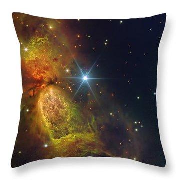 Star Creation Throw Pillow by Paul Van Scott