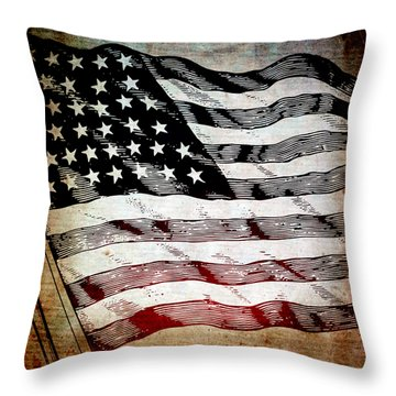 Star Spangled Banner Throw Pillow by Angelina Vick