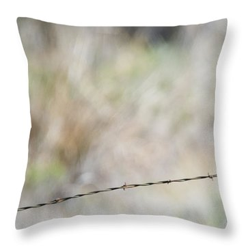 Starling Attack Throw Pillow by Mike Dawson