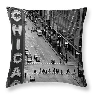 State Street Throw Pillow by Lauri Novak