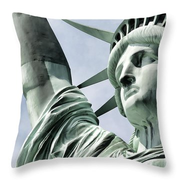 Statue Of Liberty 2 Throw Pillow by Lanjee Chee