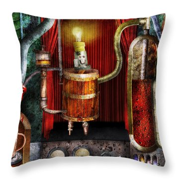 Steampunk - Coffee Break Throw Pillow by Mike Savad