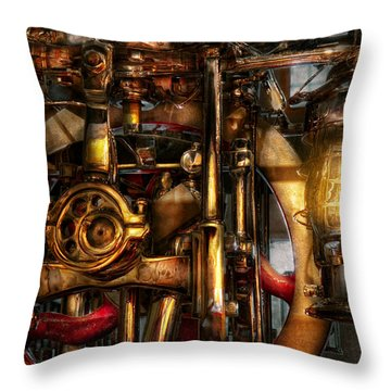 Steampunk - Mechanica  Throw Pillow by Mike Savad