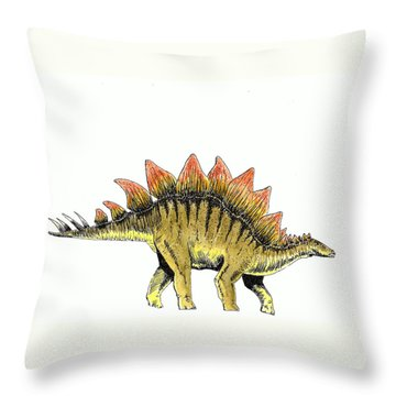 Stegosaurus Throw Pillow by Michael Vigliotti