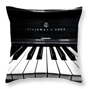 Steinway And Sons Throw Pillow by Sam Hymas
