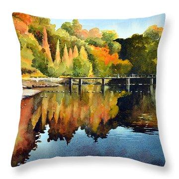 Stepping Stones Bolton Abbey Throw Pillow by Paul Dene Marlor