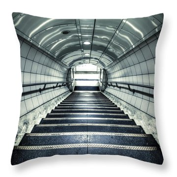 Steppings Tones Throw Pillow by Evelina Kremsdorf
