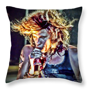 Steven Sings Throw Pillow by Traci Cottingham