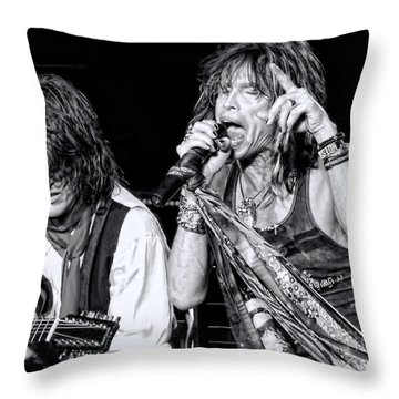 Steven Tyler Croons Throw Pillow by Traci Cottingham