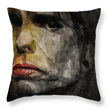 Steven Tyler  Throw Pillow by Paul Lovering