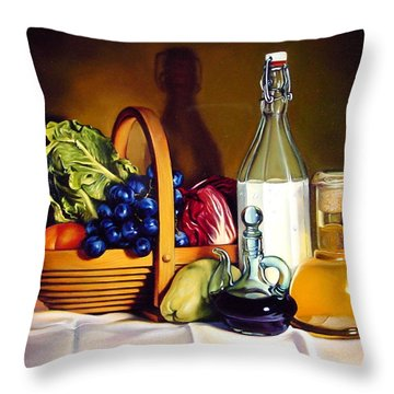 Still Life In Oil Throw Pillow by Patrick Anthony Pierson