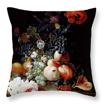 Still Life  Throw Pillow by Johann Amandus Winck