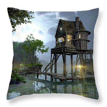 Stillwater Throw Pillow by Cynthia Decker