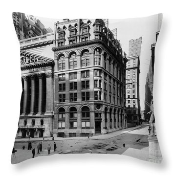 Stock Exchange, C1908 Throw Pillow by Granger