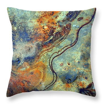 Stone Worlds Throw Pillow by Tara Turner