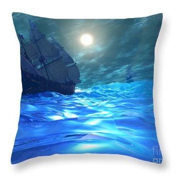Storm Brewing Throw Pillow by Corey Ford