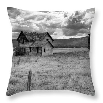 Storm Over Big Sky Montana Throw Pillow by Sandra Bronstein