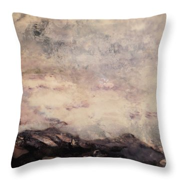Storm Over The Mountains Throw Pillow by Mary  Knapp