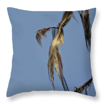 Strand Of Moss Swaying Gently With The Wind - Tiger Mountain Wa Throw Pillow by Christine Till