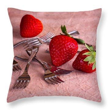 Strawberry Delight Throw Pillow by Tom Mc Nemar