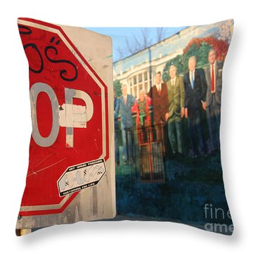 Street Art Washington D.c.  Throw Pillow by Clay Cofer