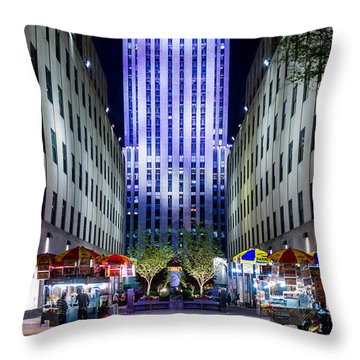 Throw Pillow featuring the photograph Rockefeller Center by M G Whittingham