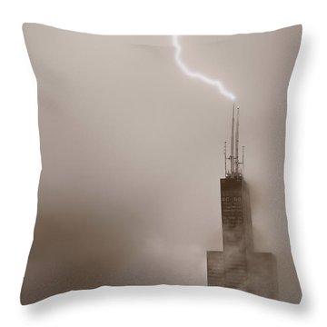 Strike Throw Pillow by Steve Gadomski