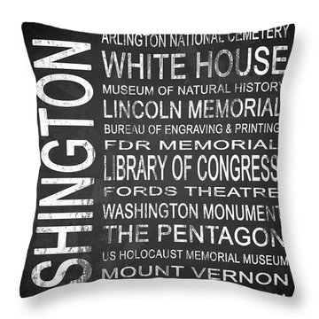 Subway Washington Dc 2 Throw Pillow by Melissa Smith
