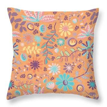 Succulent Garden Throw Pillow by Darlene Seale