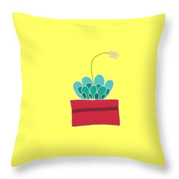 Succulent  Throw Pillow by Priscilla Wolfe